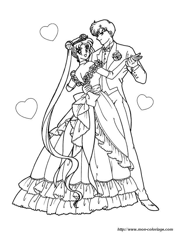 picture sailor moon wedding