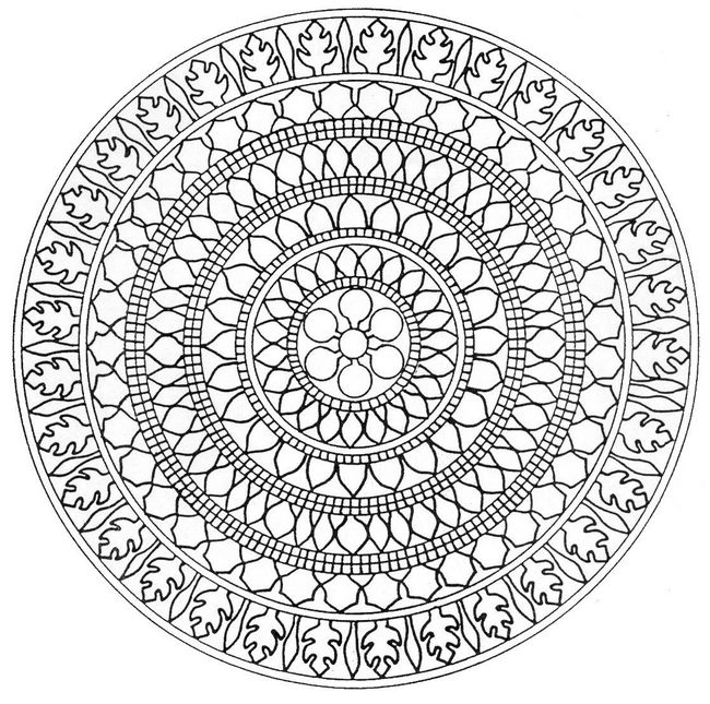 difficult mandala coloring pages - photo#16